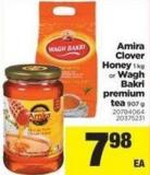 Amira Clover Honey - 1 Kg Or Wagh Bakri Premium Tea - 907 g