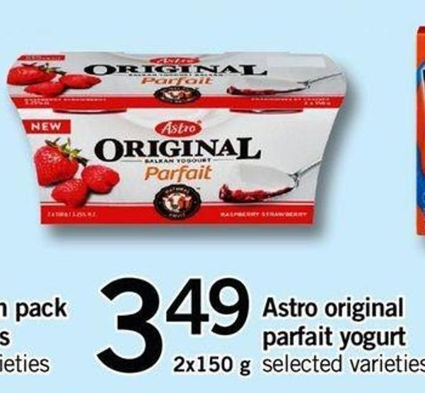 Astro Original Parfait Yogurt - 2x150 G