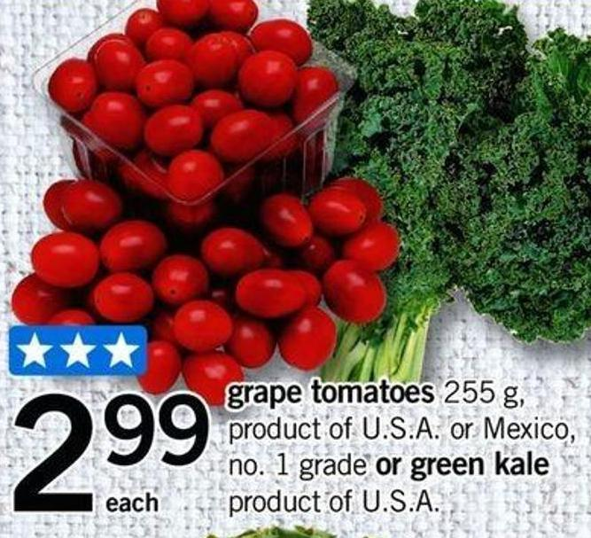 Grape Tomatoes - 255 G Or Green Kale