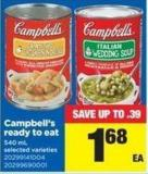 Campbell's Ready To Eat - 540 mL