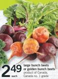 Large Bunch Beets Or Golden Bunch Beets