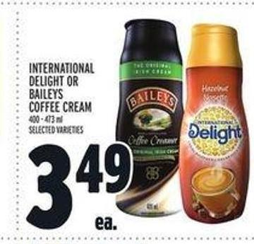 International Delight or Baileys Coffee Cream