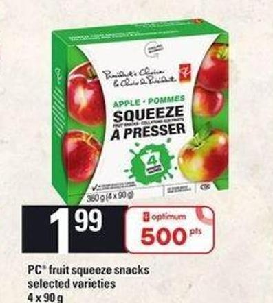 PC Fruit Squeeze Snacks - 4 X 90 g