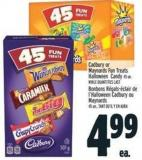 Cadbury Or Maynards Fun Treats Halloween Candy 45 Un. -