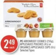PC Arrowroot Cookies (250g) - Applesauce Pouches (4's) or Organics Applesauce Cups (6's)