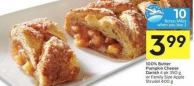 100% Butter Pumpkin Cheese Danish 4 Pk 350 g or Family Size Apple Strudel 400 g - 10 Air Miles Bonus Miles