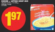 Knorr or Lipton Soup Mix - 113-338 g