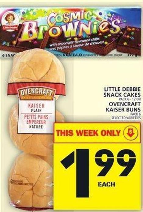 Little Debbie Snack Cakes Or Ovencraft Kaiser Buns