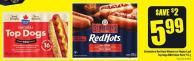 Schneiders Red Hots Wieners or Maple Leaf Top Dogs Bbq Value Pack 900 g