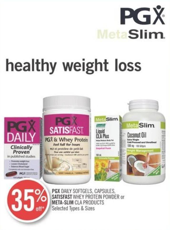 Pgx Daily Softgels - Capsules - Satisfast Whey Protein Powder or Meta-slim Cla Products