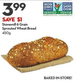 Stonemill 6 Grain Sprouted Wheat Bread 450g