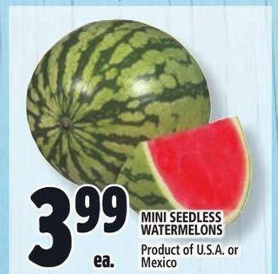 Mini Seedless Watermelons