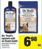 Dr. Teal's Epsom Salt Or Foam Bath