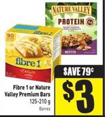 Fibre 1 or Nature Valley Premium Bars 125-210 g