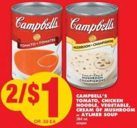 Campbell's Tomato - Chicken Noodle - Vegetable - Cream Of Mushroom Or Aylmer Soup - 284 mL