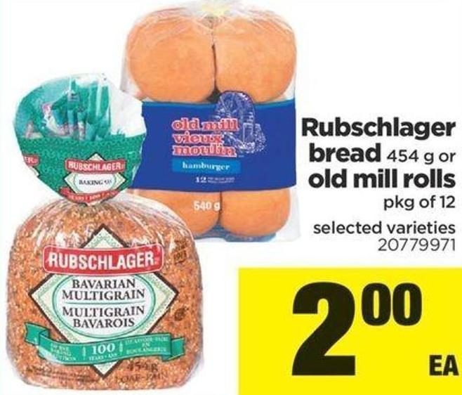 Bread - 454 G Or Old Mill Rolls - Pkg Of 12