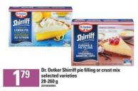 Dr. Oetker Shirriff Pie Filling Or Crust Mix - 28-260 g
