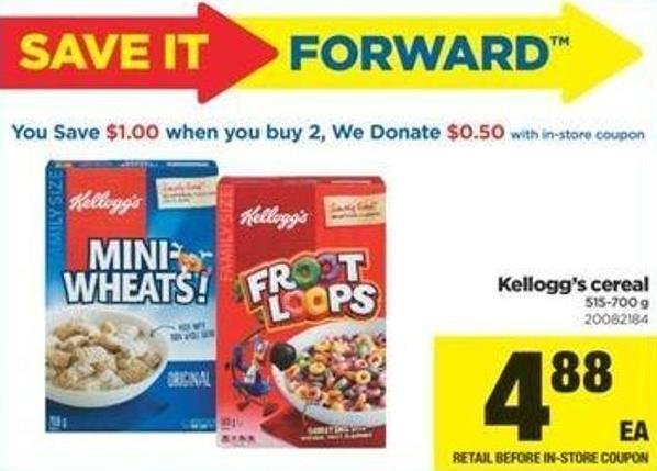 Kellogg's Cereal - 515-700 g