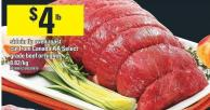 Sirloin Tip Oven Roast Cut From Canada Aa Select Grade Beef Or Higher