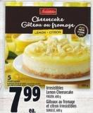 Irresistibles Lemon Cheesecake
