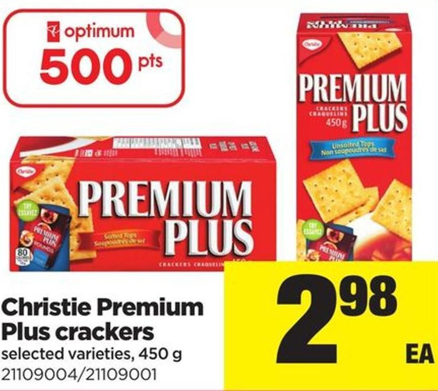 Christie Premium Plus Crackers - 450 g