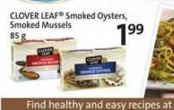 Clover Leaf Smoked Oysters - Smoked Mussels - 85 g