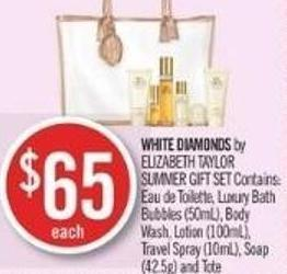 White Diamonds By Elizabeth Taylor Summer Gift Set