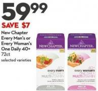 New Chapter Every Man's or Every Woman's One Daily 40+ 72ct
