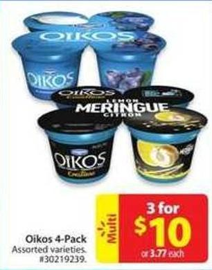Oikos 4 Pack