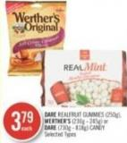 Dare Realfruit Gummies (250g) - Werther's (230g - 245g) or Dare (730g - 818g) Candy
