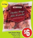 Split Chicken Wings Regular or Halal Frozen $1.2 Kg