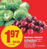 Brussels Sprouts or Cranberries - 340 g