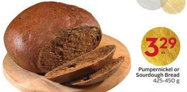 Pumpernickel or Sourdough Bread 425-450 g