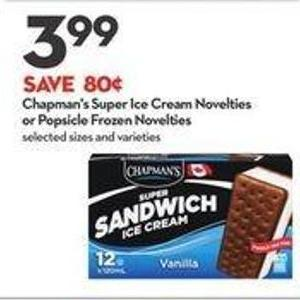 Chapman's Super Ice Cream Novelties or Popsicle Frozen Novelties