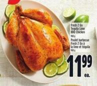 Fresh 2 Go Tequila Lime Bbq Chicken 900 g