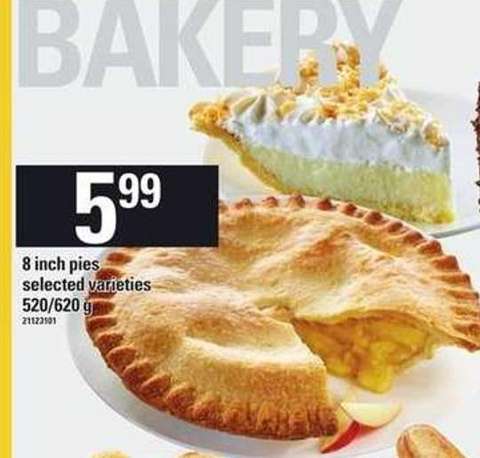 8 Inch Pies - 520/620 g