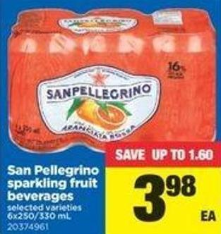 San Pellegrino Sparkling Fruit Beverages - 6x250/330 Ml