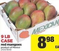 Red Mangoes - 9 Lb Case