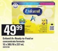 Enfamil A+ready-to Feed Or Concentrate Formula 12 X 385/18 X 237 Ml