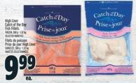 High Liner Catch Of The Day Fish Fillets Frozen - 580 g - 1.32 Kg