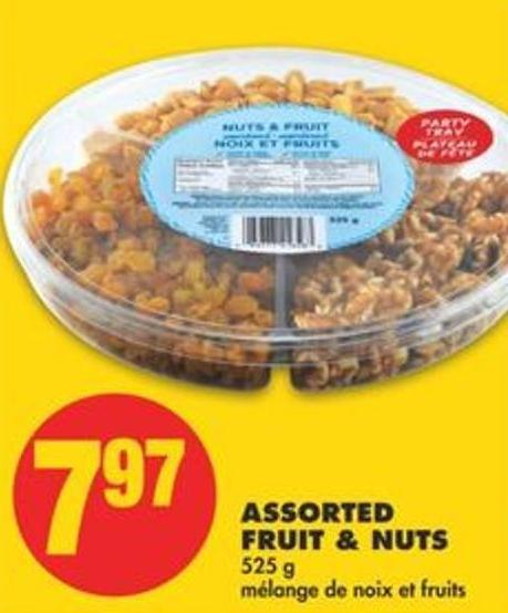 Assorted Fruit & Nuts - 525 G