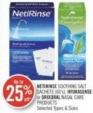 Netirinse Soothing Salt Sachets (60's) - Hydrasense or Drixoral Nasal Care Products