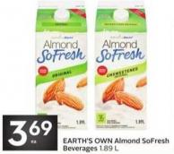 Earth's Own Almond Sofresh Beverages