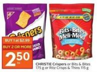 Christie Crispers or Bits & Bites 175 g or Ritz Crisps & Thins 115 g