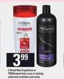 L'oréal Hair Expertise Or Tresemmé Hair Care Or Styling