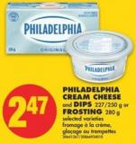Philadelphia Cream Cheese and Dips - 227/250 g or Frosting - 280 g