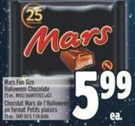 Mars Fun Size Halloween Chocolate 25 Un..