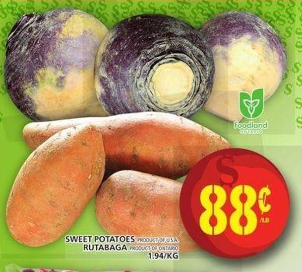Sweet Potatoes Or Rutabaga