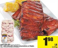 Pork Side Ribs PC Air Chilled Chicken Drumsticks Or Thighs