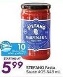 Stefano Pasta Sauce 405-648 mL - 10 Air Miles Bonus Miles When You Buy 2